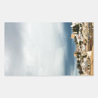 Adesivo Retangular Skyline da parte histórica de uma cidade em uma
