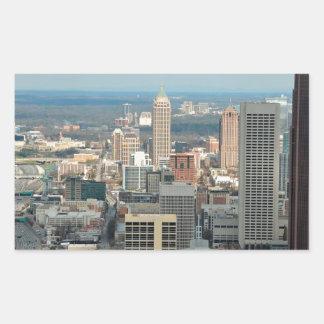 Adesivo Retangular Skyline de Atlanta