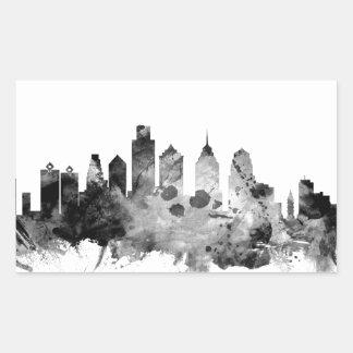 Adesivo Retangular Skyline de Philadelphfia Pensilvânia