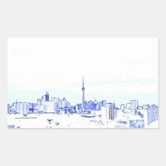 Adesivo Retangular Skyline de Toronto