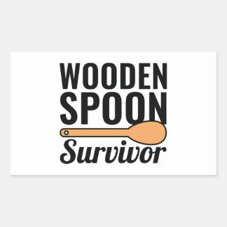 Adesivo Retangular Sobrevivente de madeira da colher