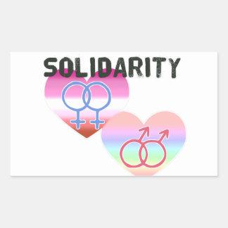 Adesivo Retangular Solidariedade alegre lésbica