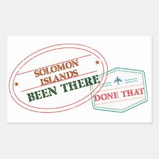 Adesivo Retangular Solomon Island feito lá isso
