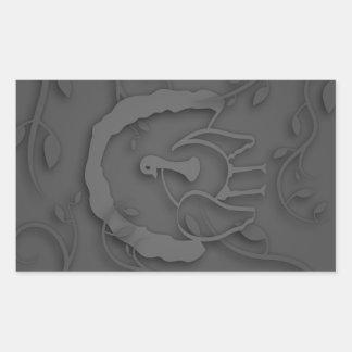 Adesivo Retangular Sombra Turquia Noir