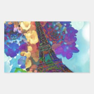 Adesivo Retangular Sonhos de Paris das flores