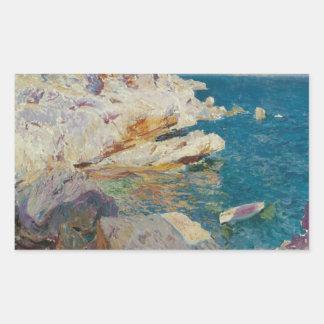 Adesivo Retangular Sorolla-Rocha de Joaquin de Javea e do barco