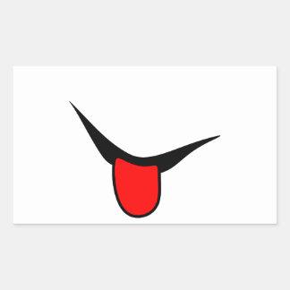 Adesivo Retangular Sorriso - língua