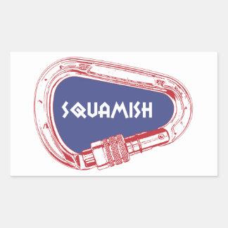 Adesivo Retangular Squamish que escala Carabiner