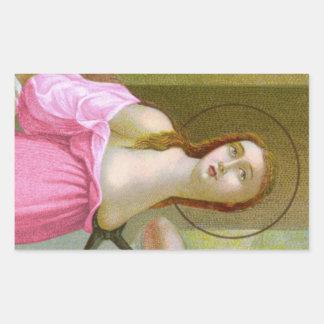 Adesivo Retangular St. cor-de-rosa Agatha (M 003)
