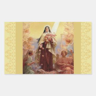 Adesivo Retangular St. Therese os anjos pequenos da flor