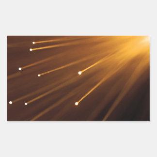 Adesivo Retangular Sumário da fibra óptica