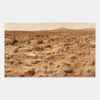 Adesivo Retangular Superfície rochosa do planeta Marte
