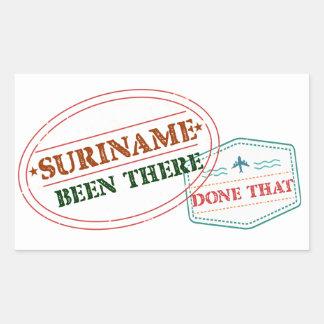 Adesivo Retangular Suriname feito lá