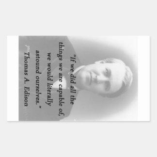 Adesivo Retangular Surpreenda-se - Thomas Edison