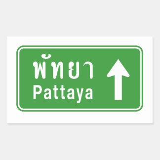 Adesivo Retangular ⚠ tailandês do sinal de tráfego da estrada do ⚠ de