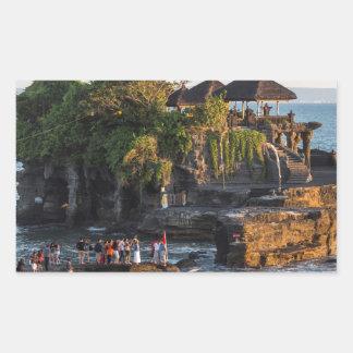 Adesivo Retangular Tanah-Lote Bali Indonésia