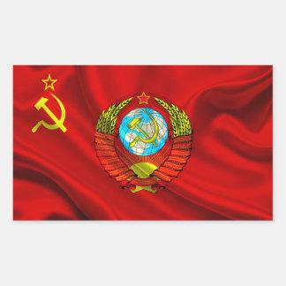 Adesivo Retangular Tecido comunista velho da bandeira de URSS