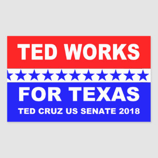 Adesivo Retangular Ted trabalha para o projeto branco de Texas e azul
