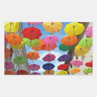 Adesivo Retangular Telhado dos guarda-chuvas