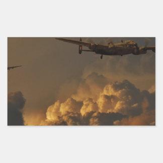 Adesivo Retangular TEMPESTADE do bombardeiro de Lancaster