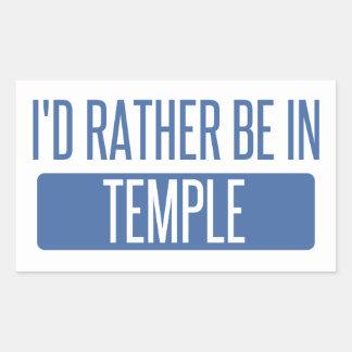Adesivo Retangular Templo