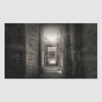 Adesivo Retangular Templo Abydos de Seti I