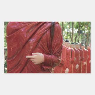 Adesivo Retangular Templo de Nellikulama de 500 Arahants, Sri Lanka