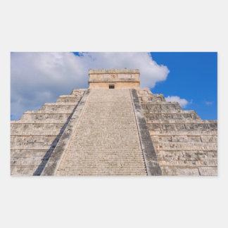 Adesivo Retangular Templo maia de Chichen Itza em México