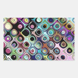 Adesivo Retangular Teste padrão abstrato colorido