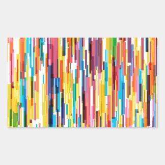 Adesivo Retangular Teste padrão dos piques da cor
