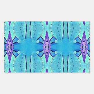 Adesivo Retangular Teste padrão feminino do Lilac azul Azure bonito