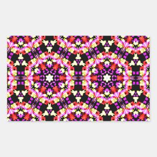 Adesivo Retangular Teste padrão floral minúsculo