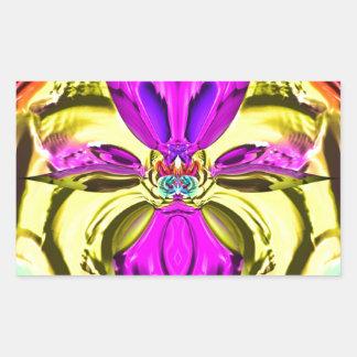 Adesivo Retangular Teste padrão florescente legal do abstrato do