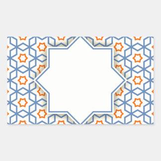 Adesivo Retangular teste padrão geométrico islâmico