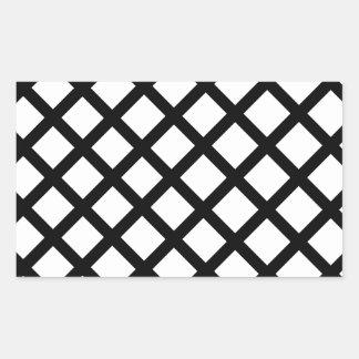 Adesivo Retangular Teste padrão simples preto e branco