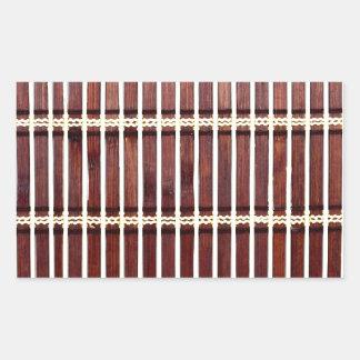 Adesivo Retangular textura de bambu da esteira