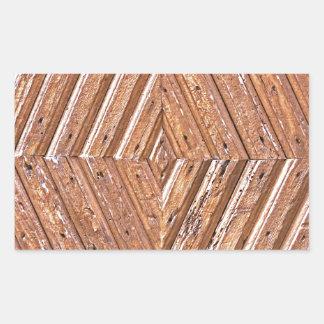Adesivo Retangular Textura de madeira