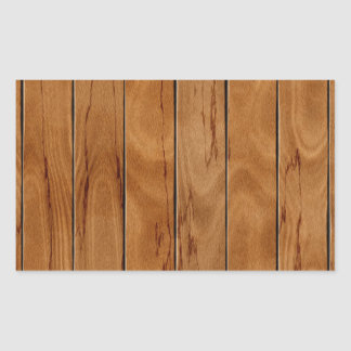 Adesivo Retangular Textura de madeira do assoalho do marrom escuro