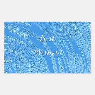 Adesivo Retangular textura metálica azul abstrata