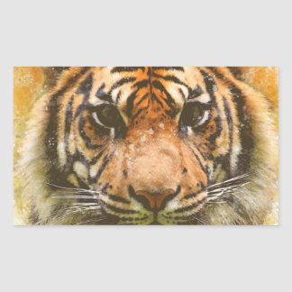 Adesivo Retangular Tigre