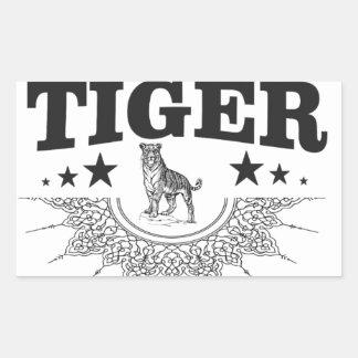 Adesivo Retangular tigre feliz