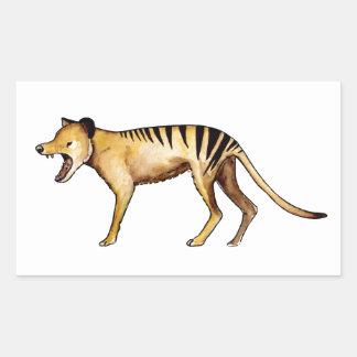 Adesivo Retangular Tigre tasmaniano, Thylacine