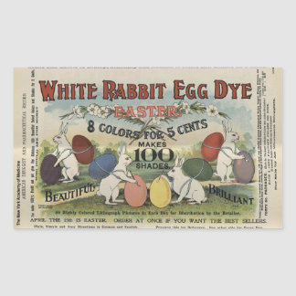 Adesivo Retangular Tintura branca do ovo do coelho