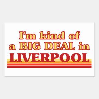 Adesivo Retangular Tipo de I´m de uma grande coisa em Liverpool