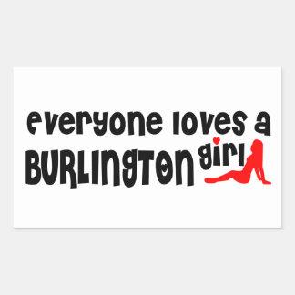 Adesivo Retangular Todos ama uma menina de Burlington