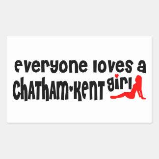 Adesivo Retangular Todos ama uma menina de Chatham-Kent