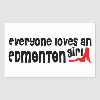 Adesivo Retangular Todos ama uma menina de Edmonton