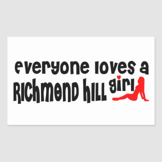 Adesivo Retangular Todos ama uma menina de Richmond