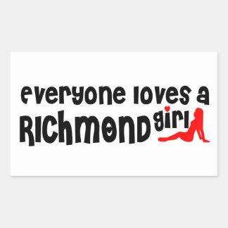Adesivo Retangular Todos ama uma menina do monte de Richmond