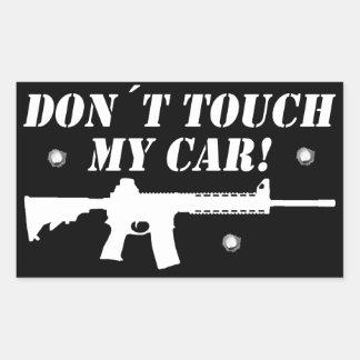 Adesivo Retangular Toque de Don´t meu carro!